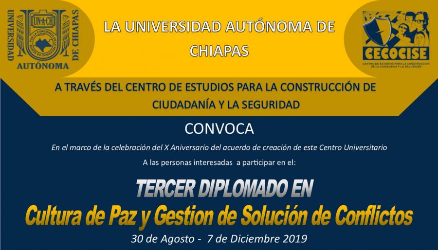 Diplomado en Cultura de Paz y Gestion de Solución de Conflictos